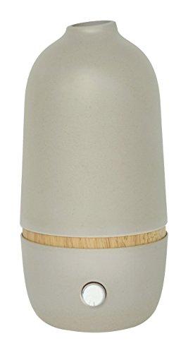 Onabyekobo 93279 Ona Stone, diffuseur d'huiles essentielles par nébulisation, Bambou, Gris, 10x10x20,5 cm