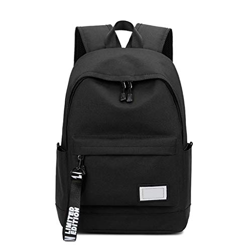 LTJLWB-backpack Sac à Dos Oxford Spinning Casual Business Outdoor Travel Multifonctions Grande Capacité ImperméAble LéGer 15l Noir