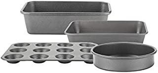 Prestige 66935 Tough & Strong 4 Piece bakeware Set-Reinforced Non-Stick Steel Bake Ware – Oven and Dishwasher Safe