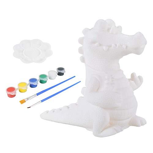 APERIL Money Bank Set di Pittura per Bambini Pittura Craft Salvadanaio Dinosauro Crea Kit di Pittura con 6 Colori Paint Kit Fai da Te Dinosaur Coin Bank Craft