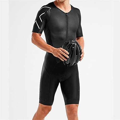 Männer Skinsuit Fahrrad Jumpsuit Triathlon Anzüge Run Bike Radfahren Kleidung (Color : 1, Size : X-Large)