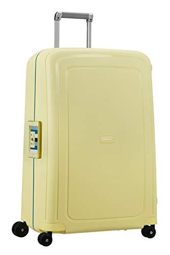 Samsonite S'Cure - Maleta de Equipaje, L (75 cm - 102 L), Amarillo (Pastel Yellow Stripes)