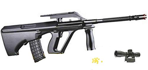 Mitra Pistola Giocattolo a Pallini con mirino, Fucile d\'assalto, Giocattolo con Puntatore e Pallini Inclusi, Mitragliatore Calibro 6 mm