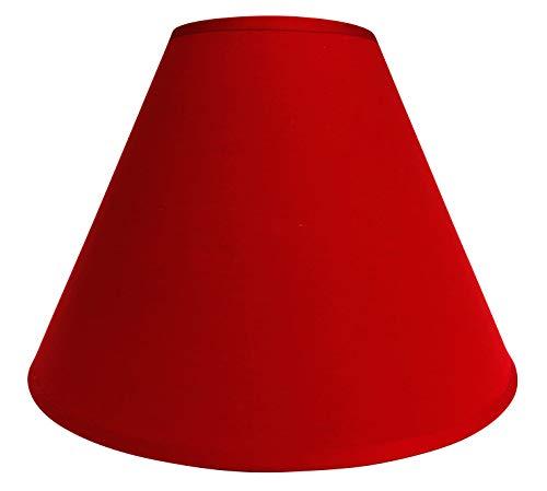 Lampenschirm/Tischleuchte/Stehlampe/Bordeaux/Rot/Stoff / E27 / Mittel