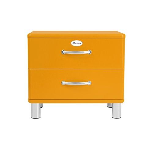 TENZO Comodino di Design, Arancione, 54 x 60 x 41 cm