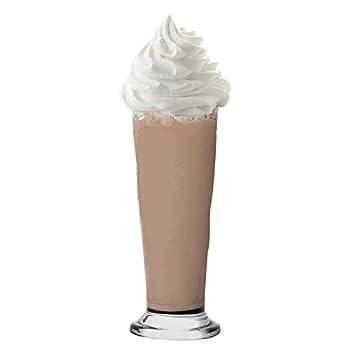 Vikko 9 Ounce Milkshake Glasses   Glass Cups for Smoothie Sundae Ice Cream Soda and Root Beer Float - Dishwasher Safe Slender Parfait Glasses - Set of 6 Clear Shake Glasses - Great Gift Idea