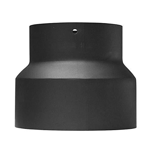 raik SH013-001-sw Rauchrohr/Ofenrohr Reduzierung 150mm - 120mm schwarz