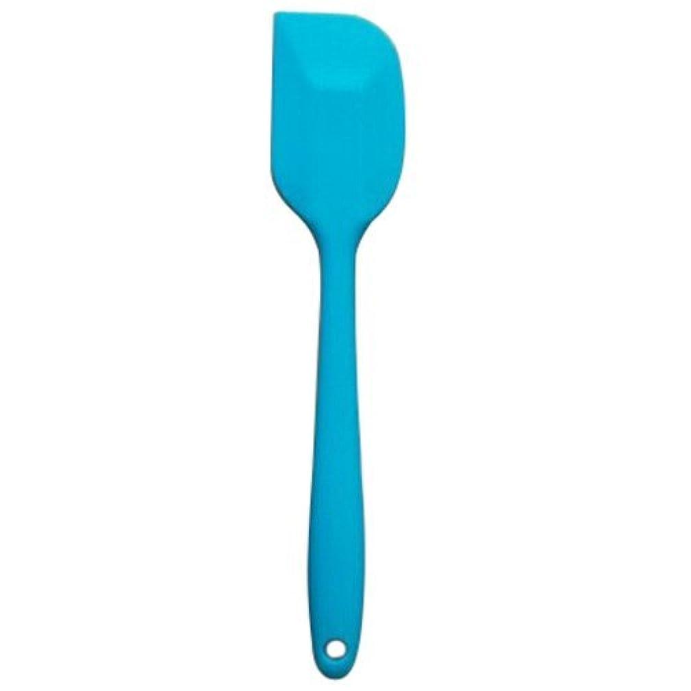 Keepjoy シリコーン スクレーパー キッチン器具 ケーキミキサー クッキングベーキングミキサー スクレーパー 料理用シリコンヘラ 21CM (ブルー)