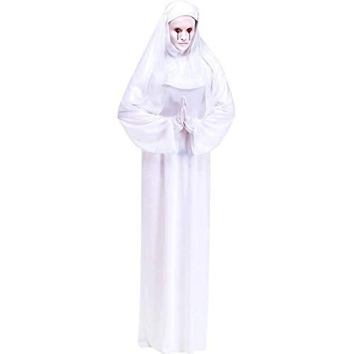 Gespenster Nonne Halloween Kostüm - weiß - Einheitsgröße für Damen