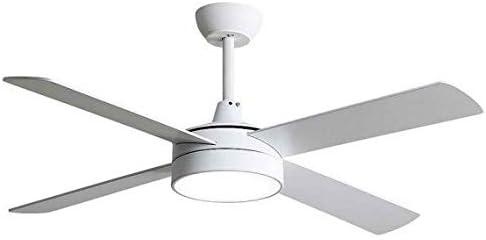 TODOLAMPARA- Ventilador de techo con luz LED 24W mod. NEVERY Blanco,3 tonalidades de luz y memoria, 4 aspas reversibles Blanco/Haya,3 velocidades, control remoto, temporizador, modo invierno-verano