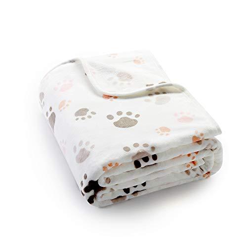 Allisandro® Super Softe Warme und Weiche Decke für Haustier Hundedecke Katzendecke Fleece-Decke/Tier Schlafdeck Überwurf für Hundebett Sofa und Couch- Gr. 80X60cm , Beige
