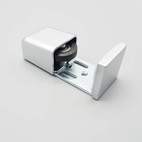 TSMST Guía de Piso para Puerta de Granero, Guía de Piso Anti-Balanceo Automático Ajustable para Puerta de Granero Corrediza, 1pieza