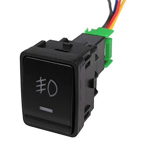 YuQiLin Interruptor de Luces antiniebla para Coche de 1 Uds con Cable, Interruptor de botón de Encendido y Apagado de 5 Pines/Apto para -Nissan X-Trail Qashqai Tiida/Luces antiniebla
