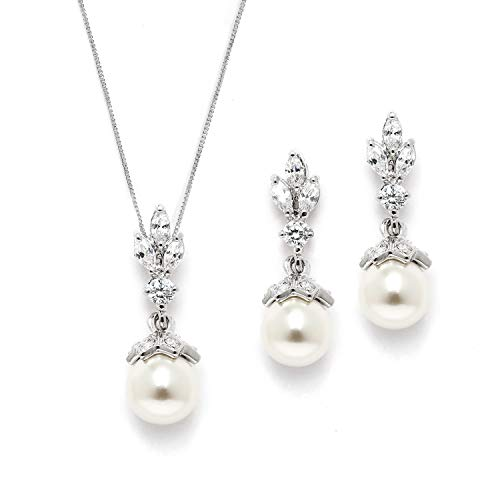 Mariell Light Ivory Pearl Drop Vintage Bridal & Wedding Jewelry Set, Great for Everyday Wear and Gifts