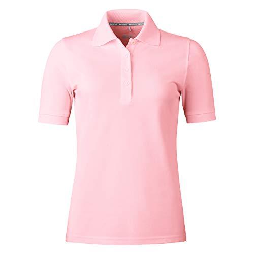 agon Damen Pique Polo-Shirt - Kurzarm-Shirt mit Knopfleiste für Frauen, bügelfrei und atmungsaktiv, für Sport und Business, Made in EU Rose 40/L