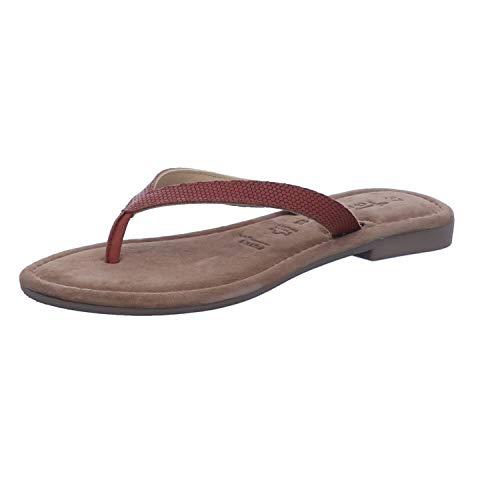 Tamaris 1-27171-34 Damen Pantoletten Zehentrenner Clogs Zehensteg, Schuhgröße:38 EU, Farbe:Braun
