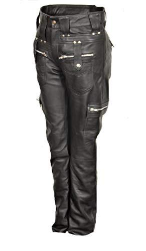 Rebel - Lederhose im Cargo Style in Soft ECHT Leder für Männer (S)