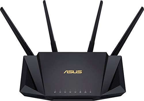 ASUS RT-AX58U Dual Band WIFI Router (RT-AX3000) (Renewed)