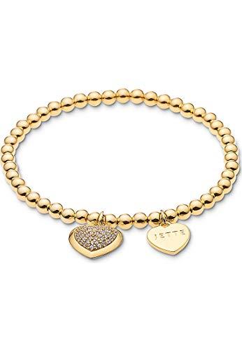 JETTE Damen-Armband 925er Silber 61 Zirkonia One Size Gold 32001158