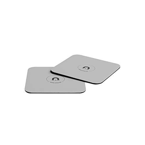 silwy Metall-Nano-Gel-Untersetzer für standsichere und rutschfeste Magnetgläser – abwaschbar, wiederverwendbar und rückstandslos ablösbar – perfekt für Camping, Boote und Kinder