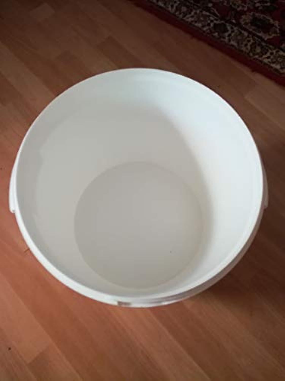10 x 30 Liter Eimer leer Leereimer wei Hobbock Kunststoffeimer mit Deckel weiss