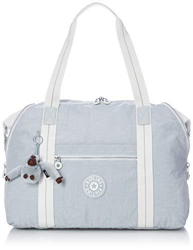Kipling ART M Bolsa de tela y playa, 58 cm, 26 liters, Gris (Active Grey BL) (Luggage)
