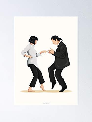 AZSTEEL Pulp Fiction - Poster artistico per danza pop e cultura, 11,7 x 16,5 cm
