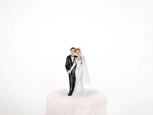 PartyDeco pf14-karton–Figur Tortendeko Brautpaar für Hochzeitstorte