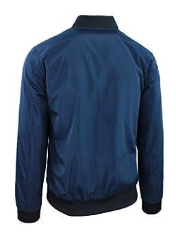 Blouson homme décontracté printemps été veste sweat moto #E1 Blu M