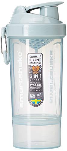 Smartshake Original 2GO One Bottle Shaker Cup with 800 ml Capacity, Mist Grey