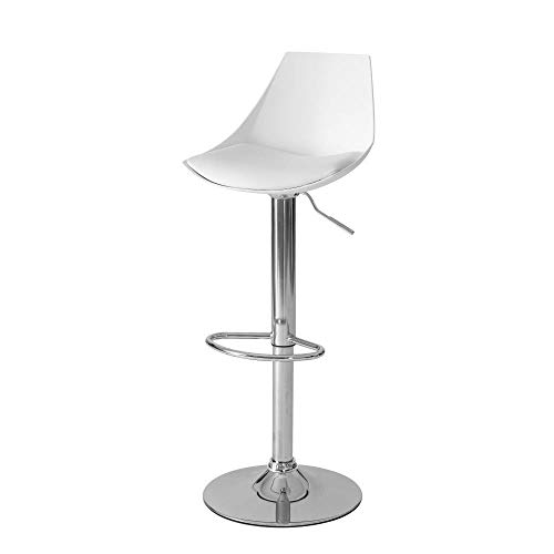 Taburete Alto Bar nórdico Blanco de Metal de 104x38x46 cm - LOLAhome