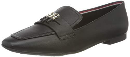 Tommy Hilfiger Essential Leather Loafer, Mocassini Donna, Nero, 37 EU