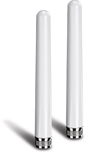 TRENDnet 5/7 dBi Outdoor Dual Band Omni Antenna Kit, TEW-AO57, N-Type Male Connectors, Supports 2.4 & 5 GHz, Omni-Directional Antennas, Use with 802.11ac/n/g/b/a Routers & Access Points