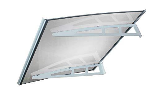 Defacto luifel overkapping huisdeurluifel polycarbonaat-solide helder staal verzinkt lessenaarsafdak incl. montagemateriaal helder + grijs 120x80cm