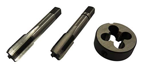 M14x1,25 HSS metrisches Feingewinde Gewindebohrer Gewindeschneider Schneideisen Made in EU 3tlg. Set MF14x1,25