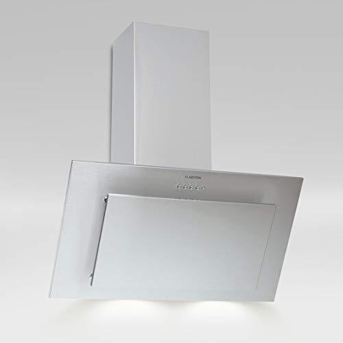 Klarstein Athena Dunstabzugshaube, Kopffrei, Wandhaube, Umluftbetrieb möglich, 3 Stufen, LED-Kochfeldbeleuchtung, Abluft und Umluft, umrüstbar, 60cm, silber