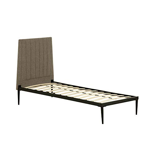 Kave Home - Cama gris Nelly 90 x 190 cm.