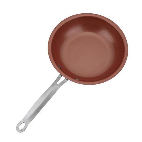 25.5 cm Cacerola de cobre antiadherente con recubrimiento cerámico e inducción Cocinar horno y lavavajillas Caja fuerte wok