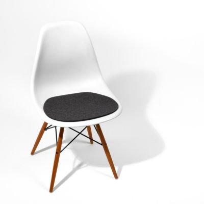 Sitzauflage 1-lagig für Eames Sidechair anthrazit meliert 38,2 x 40 cm