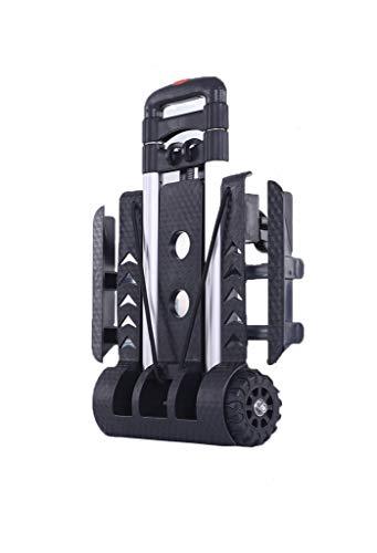 WSI Bollerwagen - 50kg Tragkraft - Ausziehbarer Griff - Platzsparend faltbar - Optimal geeignet für Ausflüge & Festivals/Handwagen/Transportwagen/Strandwagen, 37.5 * 25 * 94CM