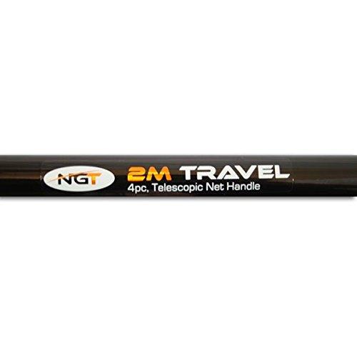 NGT CARP FISHING 2M TRAVEL TELESCOPIC LANDING NET HANDLE CLOSES DOWN TO 62CM!