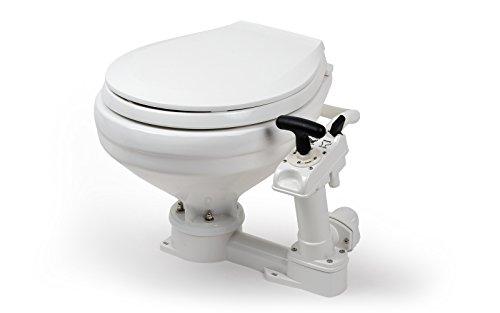 wellenshop Bootstoilette mit Handpumpe Boardtoilette Toilette Boot WC