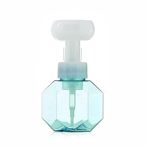 LPOK Dispensador De JabóN Espumoso De Flores, Envase Dispensador De Espuma Recargable con Forma De Flor De Botella De JabóN LíQuido Blue