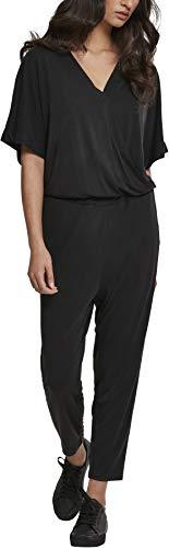 Urban Classics Damen Ladies Modal Jumpsuit, Schwarz (Black 00007), XXX-Large (Herstellergröße: 3XL)