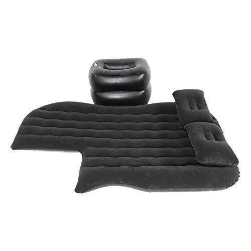 Qqmora Travel Air Bed Colchoneta Inflable Colchón de Aire Cojín de Descanso para Dormir Seguro Suave Resistente al Desgaste para Acampar, Viajes Largos, Senderismo para 95% Modelos SUV,(Black)