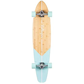Retrospec Zed Bamboo Longboard Skateboard Complete Cruiser Aqua Fishtail