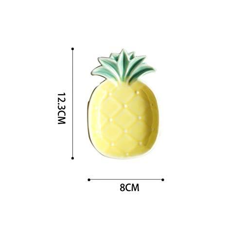 RAP Kreative Gelbe Ananas Teller Keramikplatte Gewürz Sojasauce Essig Gerichte Ketchup Obstteller Dekoration Geschenk Geschirrananas