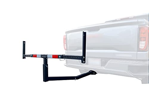 MaxxHaul 70231 Hitch Mount Truck Bed Extender (For Ladder, Rack, Canoe, Kayak, Long Pipes and Lumber) , Black , 37 x 19 x 3 inches