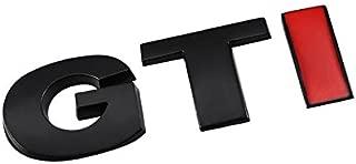 UrMarketOutlet GTI Black/Red/Chrome Aluminum Alloy Auto Trunk Door Fender Bumper Badge Decal Emblem Adhesive Tape Sticker