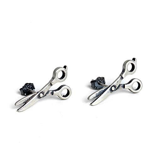 Jahrgang 925 Sterling Silber Ohrringe Für Damen Für Herren Schere Ohrring Stud Persönlichkeit Einfache Art Und Weise Kreative Geschenk Trend Einzigartige Alte Handwerkskunst
